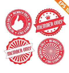 Stamp sticker member only collection - - EP vector image