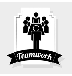 Teamwork vector