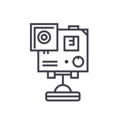 video camera gopro line icon sign vector image