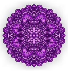 Violet floral ornament circular pattern vector