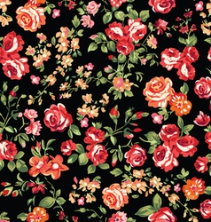 classic roses seamless background vector image