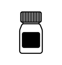Black and white pill icon vector