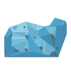 Mineral stone isolated vector