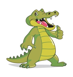 Happy crocodile vector