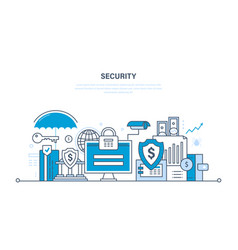 Technologies data protection guarantee finance vector