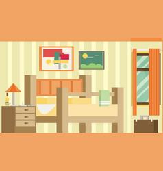 Flat design of room interior vector