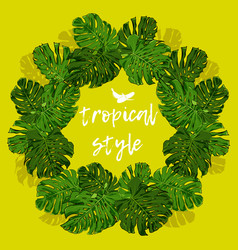 tropical palm leaves for design elements vector image