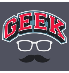 Geek T-shirt Typographic Design vector image