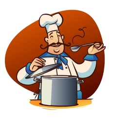 Cartoon cook character vector