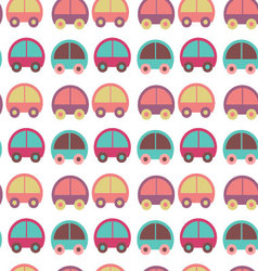 Seamless pattern with colorful cars vector