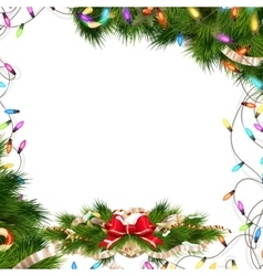 Christmas background with baubles eps 10 vector