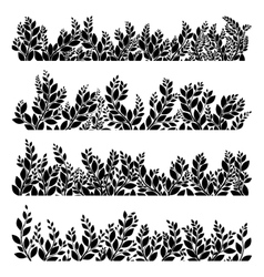 Horizontal grass silhouettes eps 10 vector