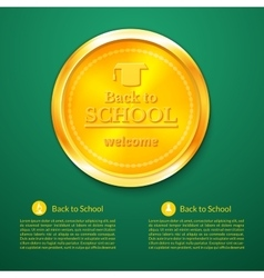 Back to school a gold medal vector