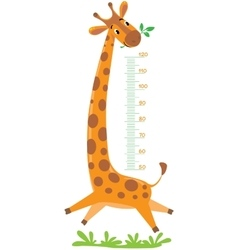 Giraffe meter wall vector