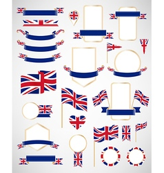 Great britain flag decoration elements vector