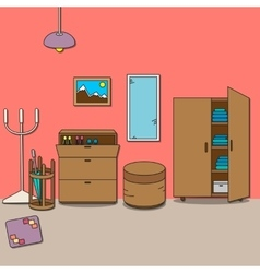 Design of room - hallway vector