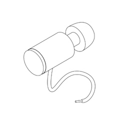 Hose for paintball marker icon isometric 3d style vector