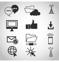 Internet design online icon technology concept vector