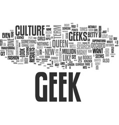 A geek groundswell text word cloud concept vector