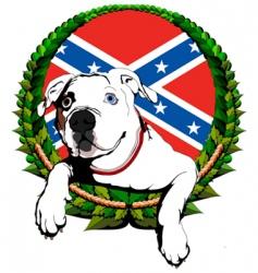 american bulldog vector image
