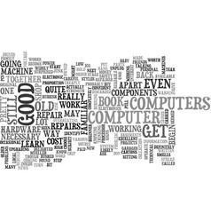 become your own pc repairer text word cloud vector image vector image