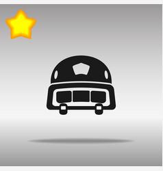 Black police helmet icon button logo symbol vector