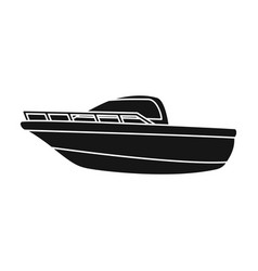 blue metal boatpolice boata means of vector image