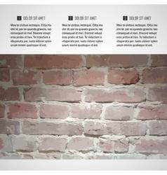 brick wall brochure vector image