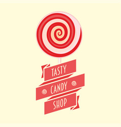 Candy or sweet shop logo sign icon or symbol vector