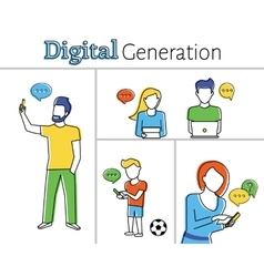 Digital generation vector image vector image