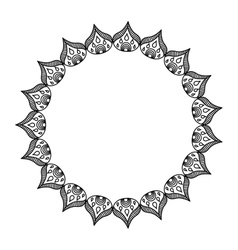 Elegant frame circle decoration isolated vector