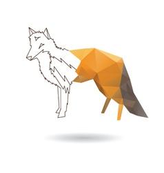 Fox abstract vector image vector image