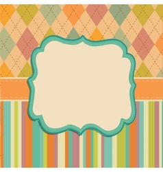 Invitation card background border frame patterns vector
