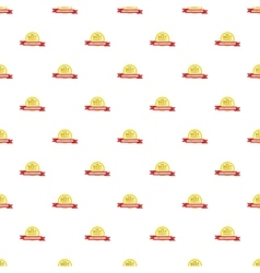 Label round premium quality pattern cartoon style vector