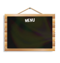 menu board cafe or restaurant menu bulletin black vector image