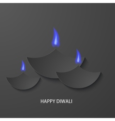 modern happy diwali background vector image