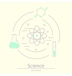 Modern logotype icon laboratory chemistry vector image