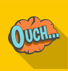 Ouch speech bubble icon flat style vector