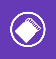 Sd card icon pictogram vector