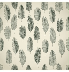 Set of hand drawn palm leaves vector