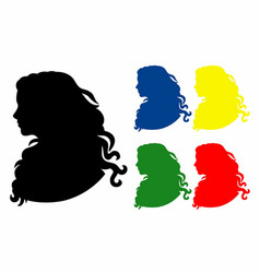 shadow five profiles vector image vector image