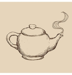 teapot drawn vector image