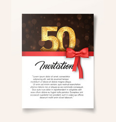 template of invitation card to the day of the vector image vector image