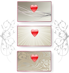 valentine cards vector image vector image