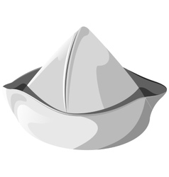 White sea hat isolated vector