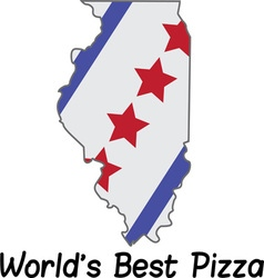 Worlds best pizza vector