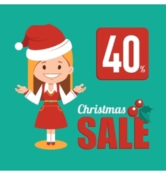 Christmas discount  sale holiday banner vector