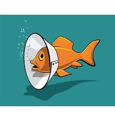 Fish collar vector image