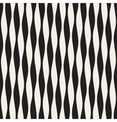 Seamless black and white vertical wavy vector