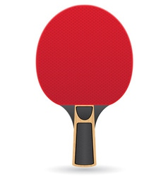 Racket for table tennis ping pong vector